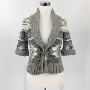 Lauren Ralph Lauren Wool Cardigan Toggle Closure